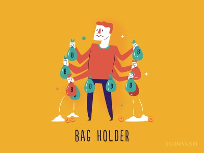 :::Cryptocurrency Slang - Bag Holder::: sands holder bag rekt coin crypto bitcoin