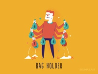 :::Cryptocurrency Slang - Bag Holder:::