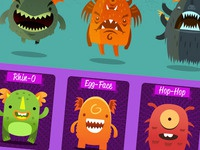 MonsterUp 2 Characters