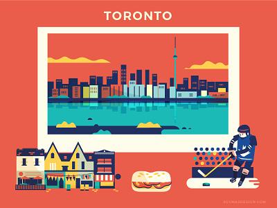 :::Travel posters - Toronto::: kensington market food travel posters buildings hockey sandwich canada toronto