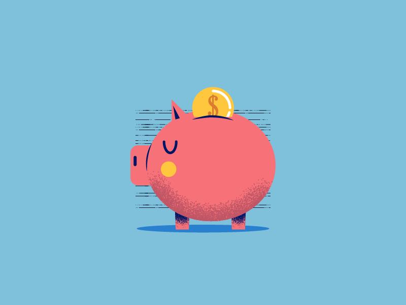 :::Saving pig::: financial graphic icon savings piggy bank bank pig money