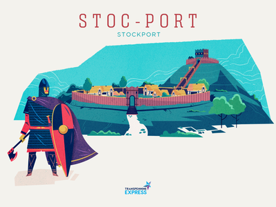 :::How northern cities got their names - Stockport::: building dark ages saxon fortress fort saxon