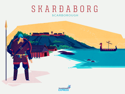 :::How northern cities got their names - Scarborough::: norseman ship long house harbour fort warrior viking