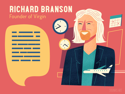 :::Richard Branson-Virgin::: person portrait character virgin airplane