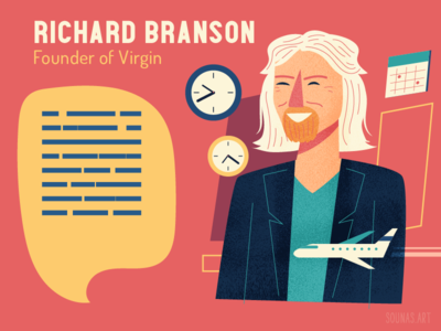 :::Richard Branson-Virgin::: person portrait character virgin airplane