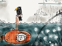 Submarine ipad sketch