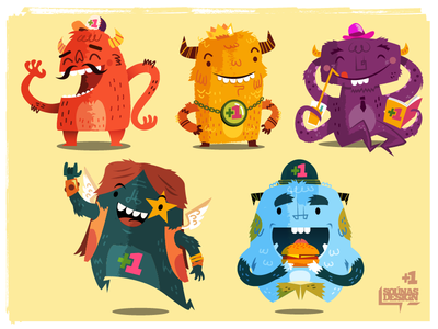 Skim Monsters monsters characters funny happy skim weird