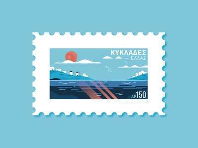 Cyclades islands, Greece - Dribbble Weekly Warm Up Shot:::