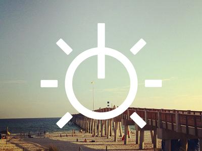 Shoreline Studio Logomark logo icon identity symbol beach music audio water sun sky morning sunrise
