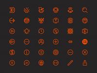 Multi-Platform Media App Icons