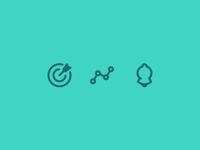 Health App Nav Icons  clean simple iconography notifications data goals line monoweight app icons