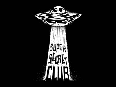 Super Secret Club - Abducted Tee plan 9 outer space ditko tractor beam laser beam spaceship comic illustration tee tshirt abduction alien