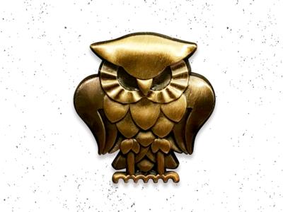 Bohemian Owl Enamel Pin - Super Secret Club paranormal metal brushed gold club secret bohemian conspiracy aliens owl pin enamel