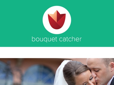 Bouquet Catcher flower geometric rose wedding