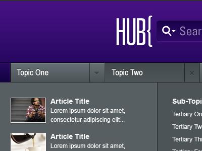 Hub interface ui