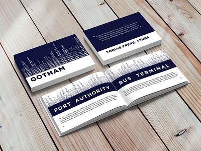 Gotham Typography Book illustrator indesign new york city graphic design gotham typeface booklet typography