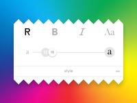 Printickle - Text Panel