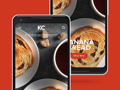 KC - Landing Page fullscreen modern interface homepage kc