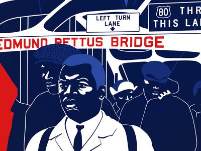 John Lewis march rights civil lewis john