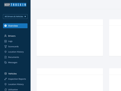 A Responsive Sidebar animation iconography trucking menu sidebar responsive