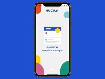 Hucu - Onboarding app design hucu onboarding