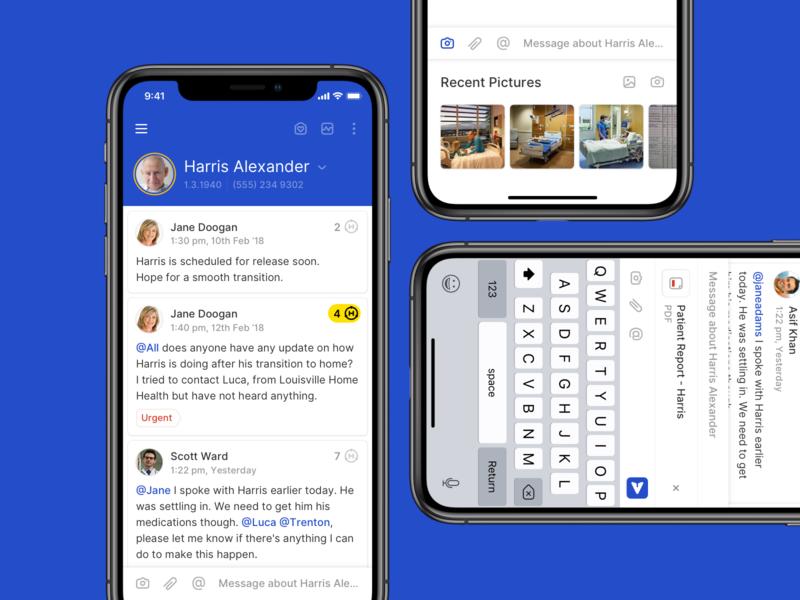 Hucu - Messaging interface attachments chatting app design hucu messaging