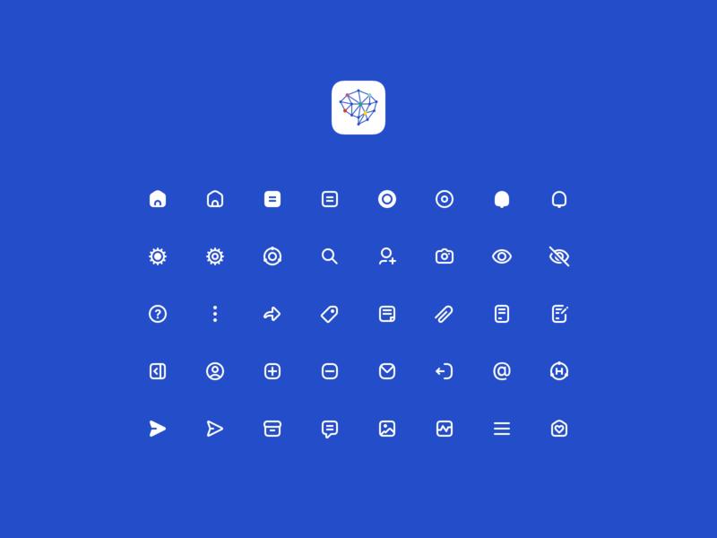 Hucu - Iconography minimal icons iconography app design hucu