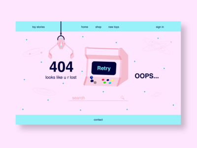404 page from daily UI
