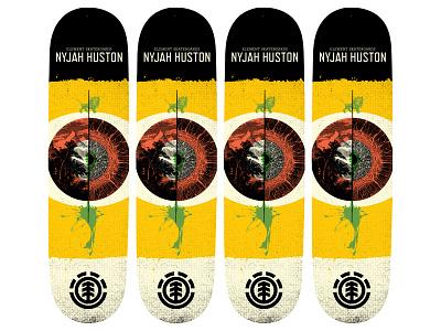 Skateboard deck design for Element Skateboards skateboard illustration skateboard design typography design illustration illus
