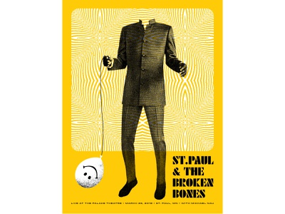 St.Paul & The Broken Bones Concert Poster poster design design typography illustration