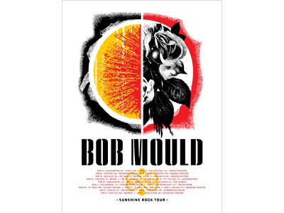 Bob Mould Tour Poster gigposter collage screenprint graphic design screen printed screen print print tour poster concert poster illustration design poster design typography