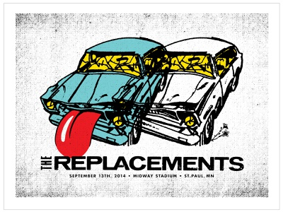 Replacements Concert Poster graphic design screen print screen printed screenprint print concert poster gigposter typography poster design design illustration