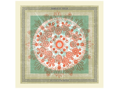 """Trampled by Turtles """"Life is Good on the Open Road"""" Album Design graphic design print vinyl record design illustration package design record package design music album art"""