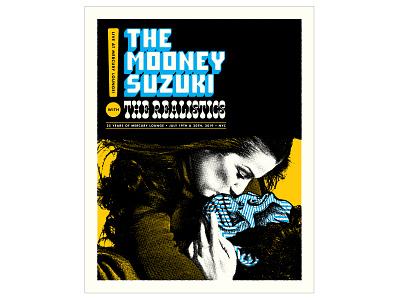Mooney Suzuki Concert Poster concert poster gigposter screenprint poster design typography graphic design illustration design print
