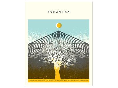 Romantica Concert Poster concert poster gigposter screenprint poster design typography graphic design illustration design print