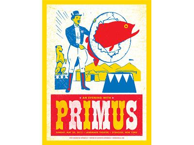 Primus Concert Poster gigposter concert poster screenprint poster design typography graphic design illustration design print