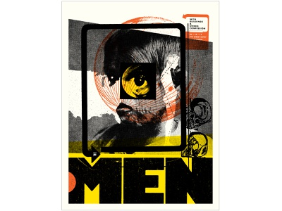 The Men Concert Poster gigposter concert poster screenprint poster design typography graphic design illustration design print