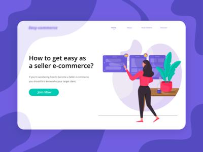 Sellery - Get Easy as an e-Commerce Seller Header Ilustration