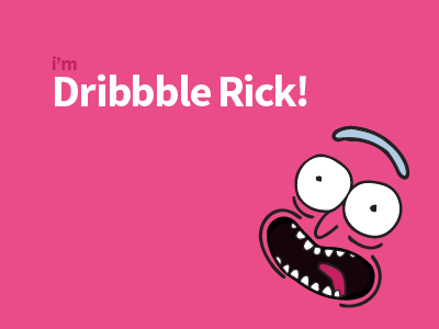 Dribbble Rick! morty and rick dribbble