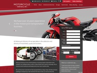 Motorcycle Delivery web design
