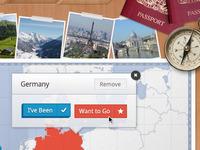 Travel App Buttons