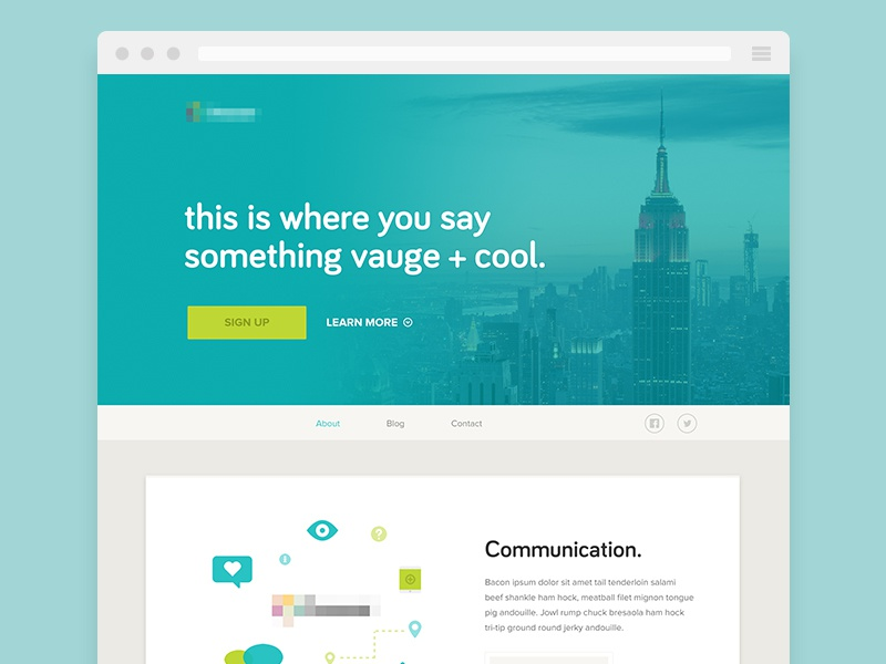 Homepage / Canned homepage light clean wip green flat minimal