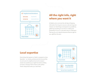Realtii / Homepage homepage light clean blue flat minimal home houses cityscape