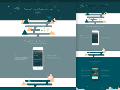 Journey / Homepage journey flat minimal homepage clean iphone app illo white grey