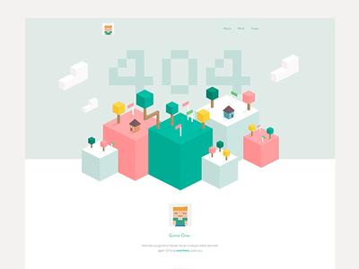 404 portfolio green error 404 illo pink flat minimal isometric