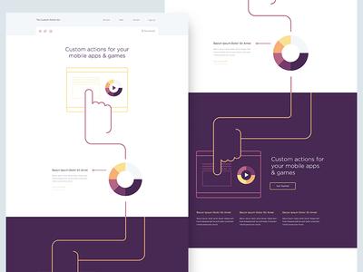 Custom Homepage / WIP homepage flat minimal clean stardust line art