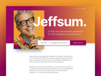 Jeffsum. there it is fun lorem ipsum jeffsum jeff goldblum jeff