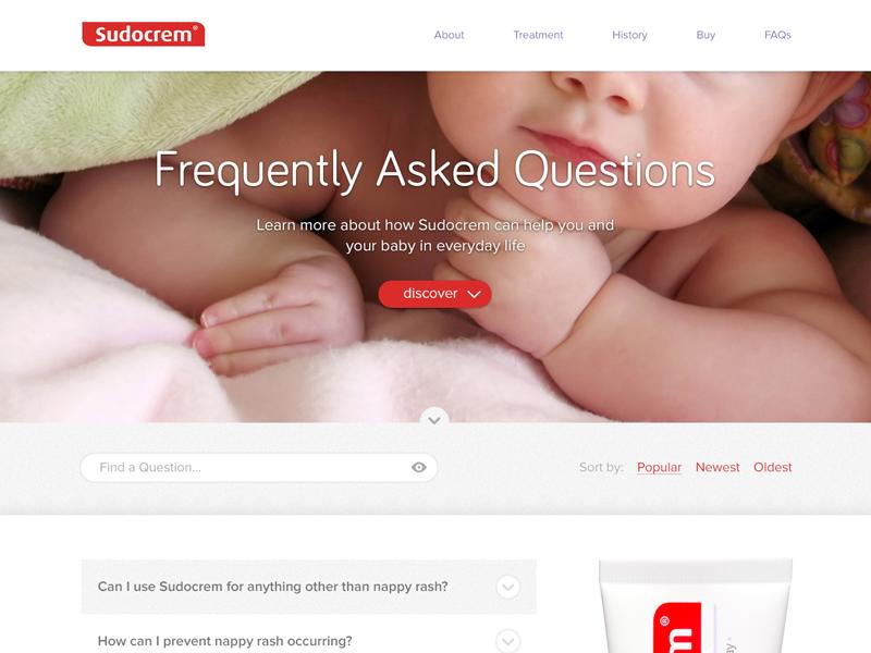 FAQ Concept web design design web purple red white ux ui homepage