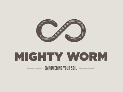 Mighty Worm worms soil gross slimy yuck organic permaculture stamp brown
