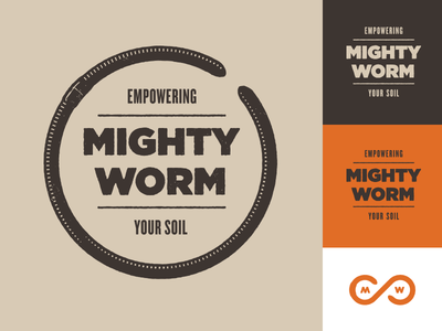 More Mighty Worm  worms soil gross slimy yuck organic permaculture stamp brown